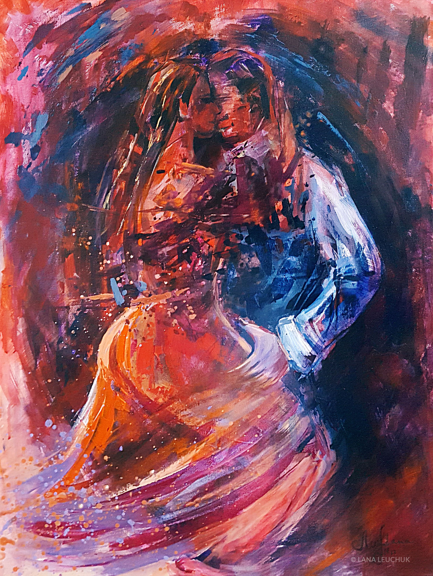 Life is a Dance-acrylic on canvas-60x80 cm-LANA-LEUCHUK-2017